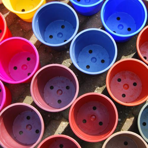 Biobased flowerpots